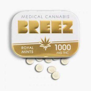 Breez Gold Mints Tin 1000 mg   Buy Edibles Online