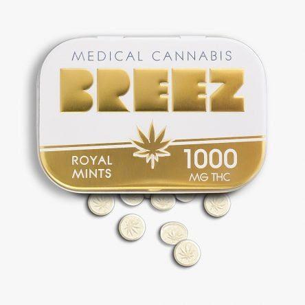 Breez Gold Mints Tin 1000 mg