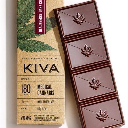 Kiva Blackberry Dark Chocolate Bar