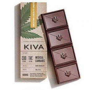 Kiva Ginger 120mg CBD:THC 1:1 Ratio | Buy Edibles Online