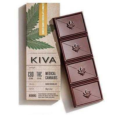 Kiva Ginger 120mg CBD:THC 1:1 Ratio