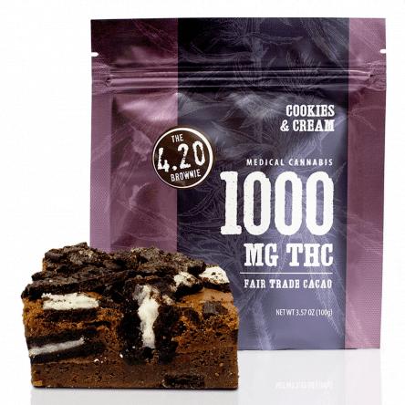 The 4.20 Brownie: Cookies & Cream 1000 MG THC
